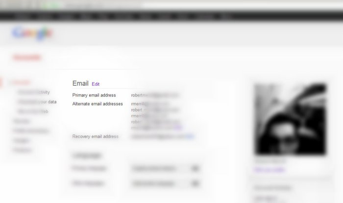 Add an alternate email address to your Google account for easier sharing/access